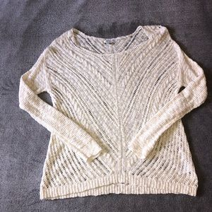 AEO Pullover Textured Cable Knit Sweater